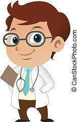 lindo, poco, médico masculino