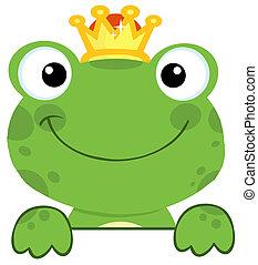 lindo, príncipe, rana