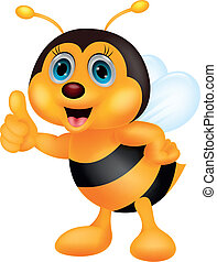 Lindo pulgar de abeja