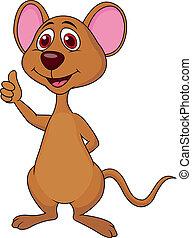 Lindo pulgar de dibujos de ratón
