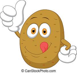 Lindo pulgar de patata