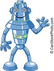 Lindo robot de dibujos animados