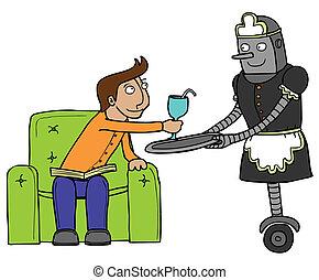 Lindo robot de sirvienta