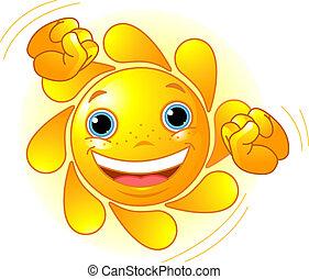 Lindo sol bailarín