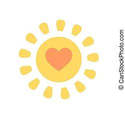 Lindo sol con corazón
