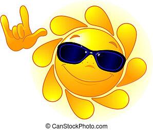 Lindo sol con gafas de sol
