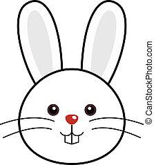 lindo, vector, conejo