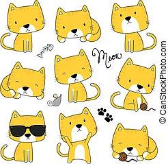 Lindo vector de gatitos