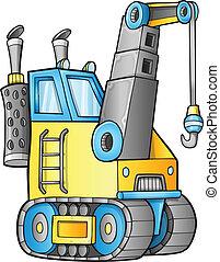 Lindo vector de grúa de construcción