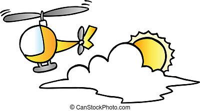 Lindo vector de helicóptero