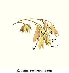 Lindo y divertido dibujo animado vector de caracteres de Ilustración