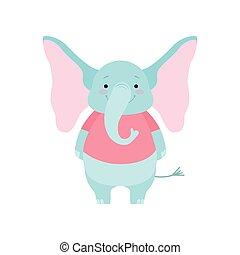 Lindo y divertido dibujo de elefante animal de dibujos animados vector de caracter ilustración