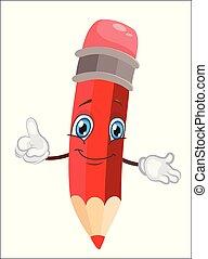 Lindo y divertido dibujo de lápiz. Ilustración de vectores.