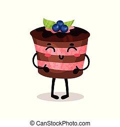 Lindo y gracioso dibujo animado vector de personaje de Ilustración