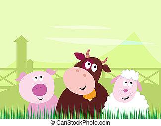Lindos animales de granja