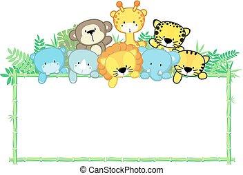 Lindos animales de la selva