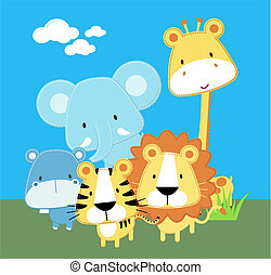 Lindos animales de safari