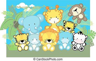 Lindos animales de safari infantil