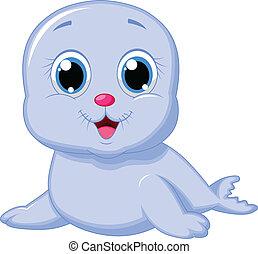 Lindos dibujos de foca bebé