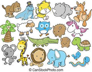 Lindos elementos de diseño animal