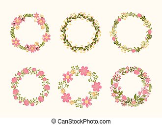 Lindos marcos de corona de coronas para invitaciones de boda
