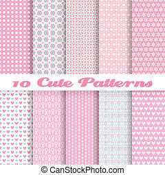 Lindos vectores sin marcas (tiling). Color rosa