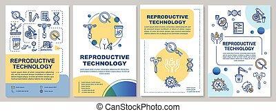 lineal, disposiciones, revistas, folleto, anual, impresión, vector, carteles, diseño, template., pregnancy., folleto, folleto, reproductor, aviador, tecnología, cubierta, publicidad, informes, icons., alternativa