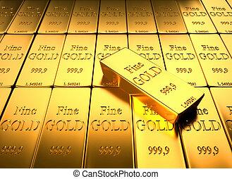 lingote, oro