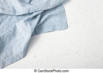 lino, mantel, fondo azul, mármol