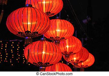 Linternas rojas chinas