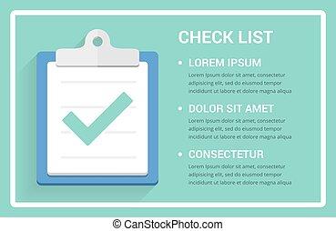 lista cheque