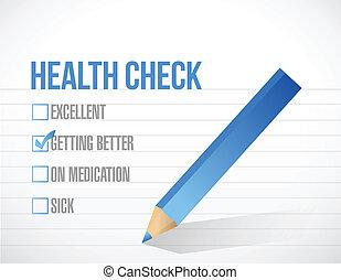 Lista de comprobación de salud