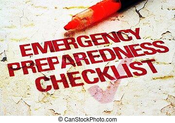 Lista de control de emergencia