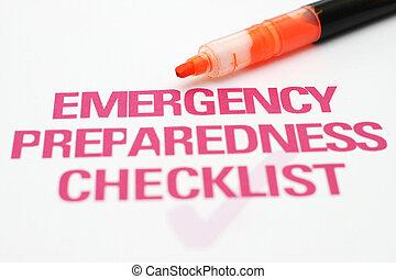 Lista de emergencia