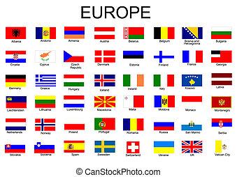 Lista de todas las banderas de los países europeos