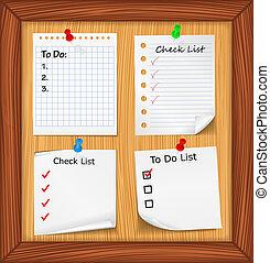Lista de todo y lista de cheques