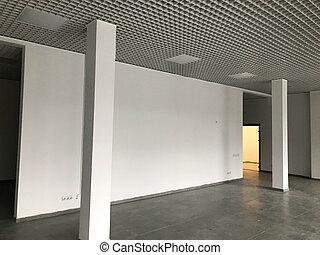 listo, empresa / negocio, espacio, vacío, alquiler, oficina, reparación, nuevo, después