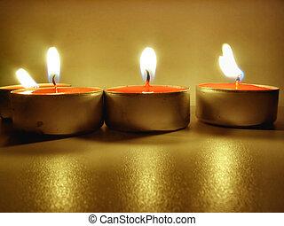 lit, tealights
