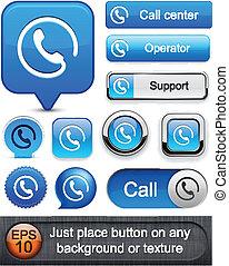 Llama a los botones modernos de alto nivel.
