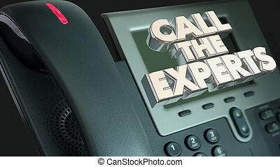 Llama a los expertos para que te ayuden con la ilustración del teléfono 3D