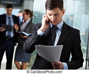 Llamada de negocios