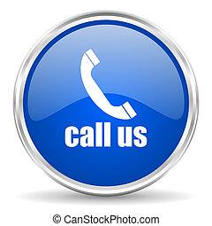llamada, nosotros, icono