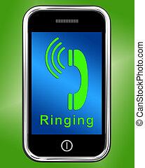 Llamar a un icono en el móvil muestra una llamada telefónica inteligente