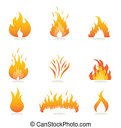Llamas y señales de fuego