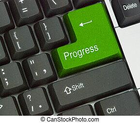 Llave caliente para el progreso
