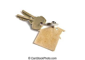 llaves, hogar, nuevo