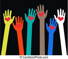 Llegando a manos humanas