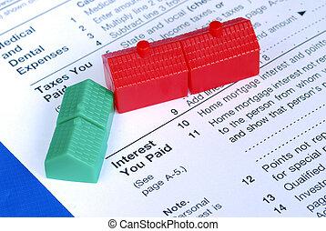 Llenando la deducción de intereses hipotecarios en la declaración de impuestos