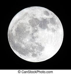 lleno, 19.03.11, ucrania, luna, moon., donetsk, fase, región