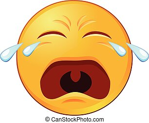 Llorando emoji vector icono